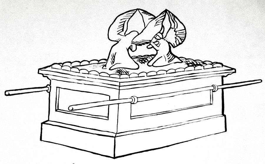 The ark of the covenant drawing by g cuffia for Ark of the covenant coloring page