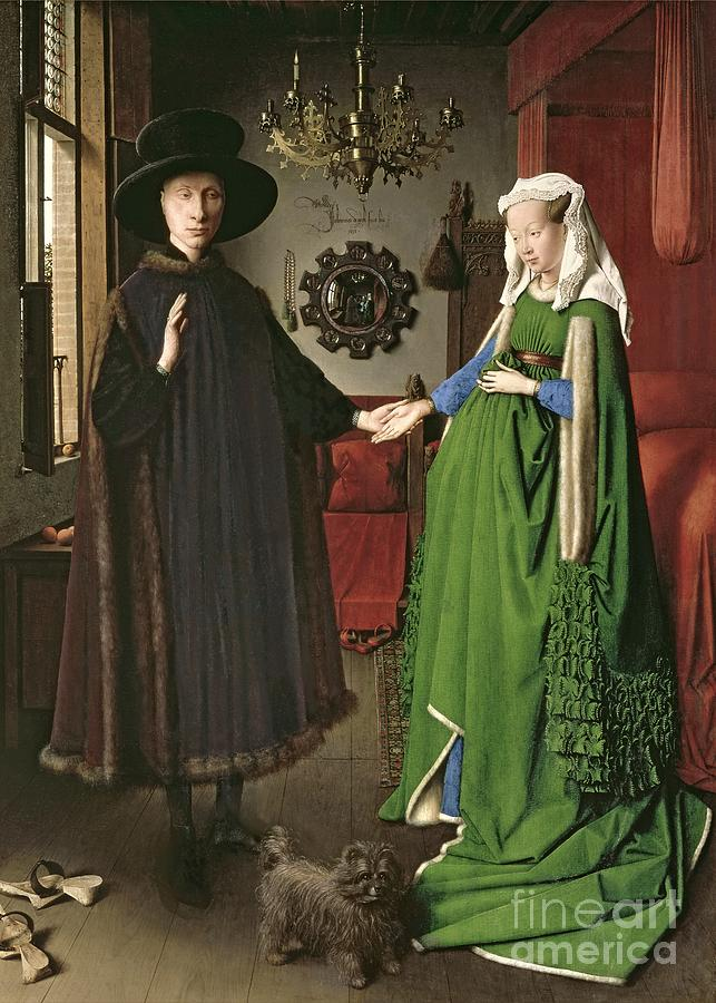The Painting - The Arnolfini Marriage by Jan van Eyck