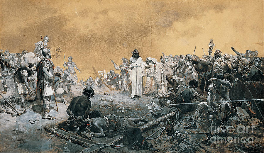The Arrival At Calvary Painting