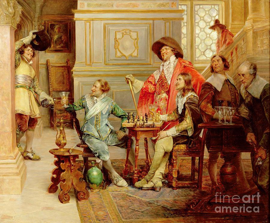 The Arrival Of D'artagnan Painting - The Arrival Of Dartagnan by Alex de Andreis