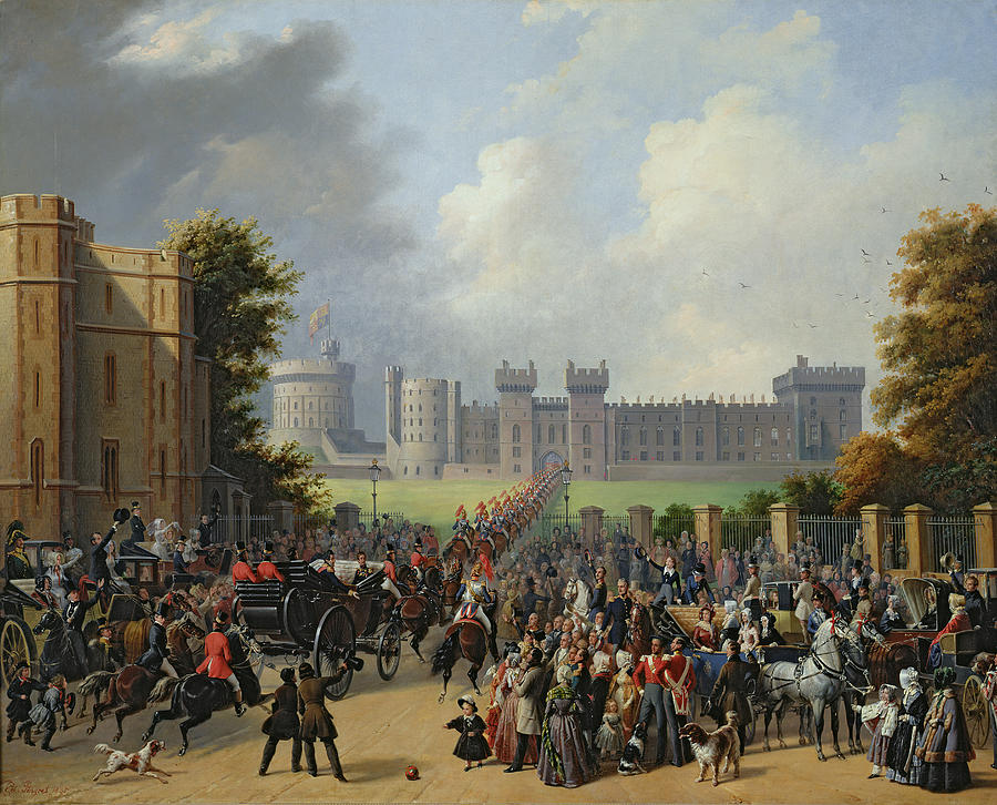 The Painting - The Arrival Of Louis-philippe by Edouard Pingret