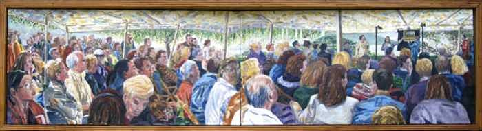 Garrison Painting - The Art Auction by Ralph Papa