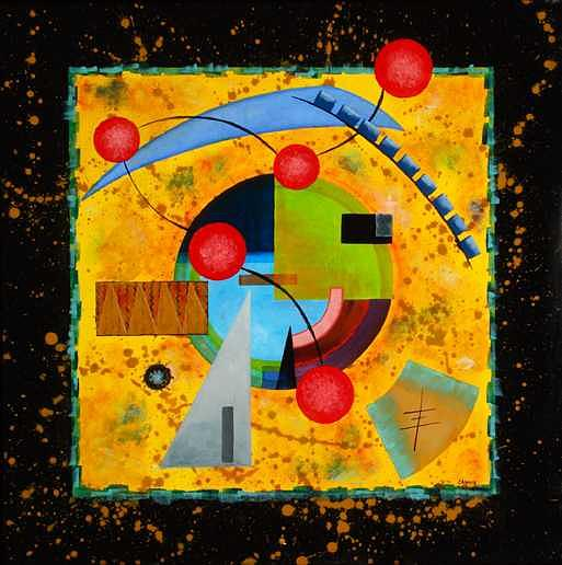 Abstract Painting - The Art Mill by Leann Harding