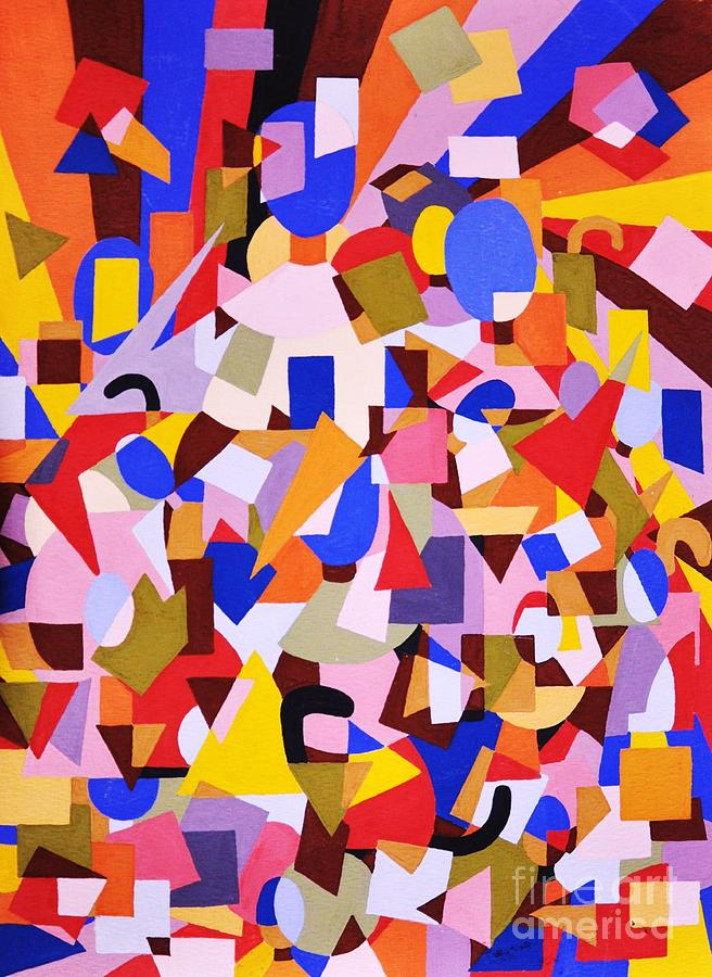 Abstract Painting - The Art Of Misplacing Things by Reb Frost