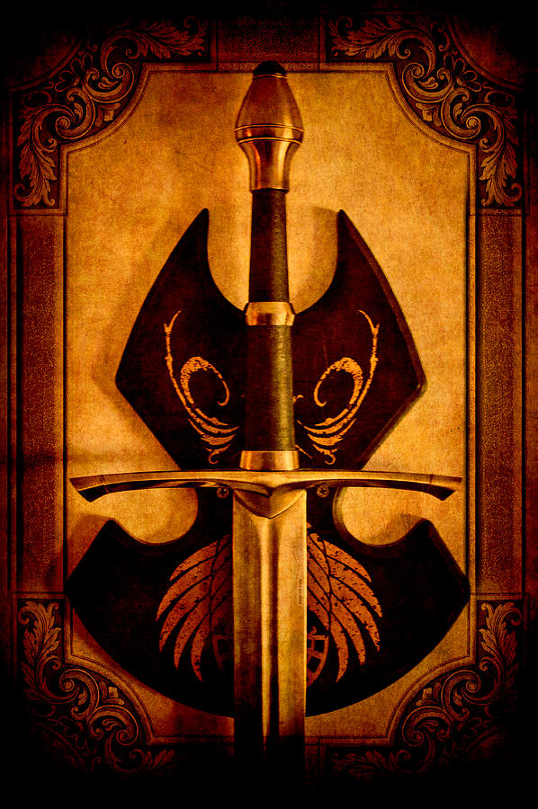 Photo Photograph - The Art Of War - Eternal Portrait Of A Warrior by Loriental Photography
