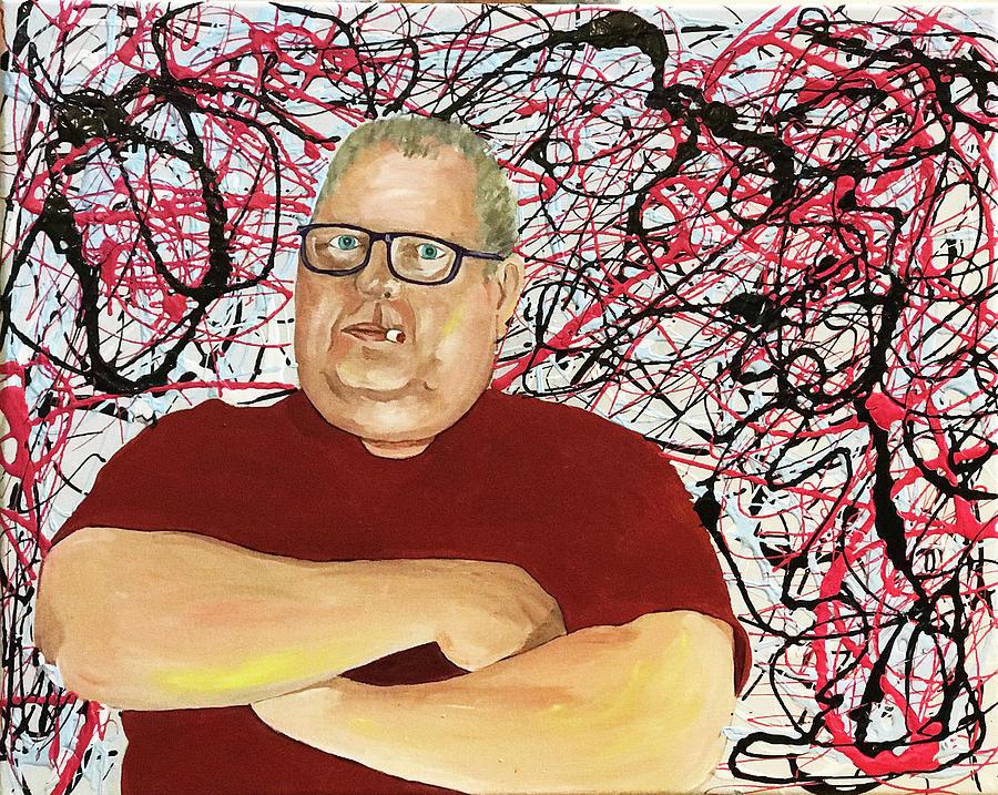 The Artist as Jackson Pollock by Kevin Callahan