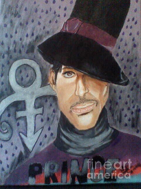 Portrait Painting - The Artist Formerly Known As Prince by Thomasina Marks