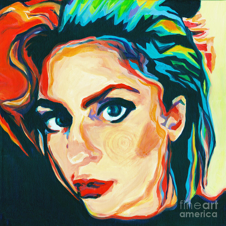 The Artist Lady Gaga Painting By Tanya Filichkin
