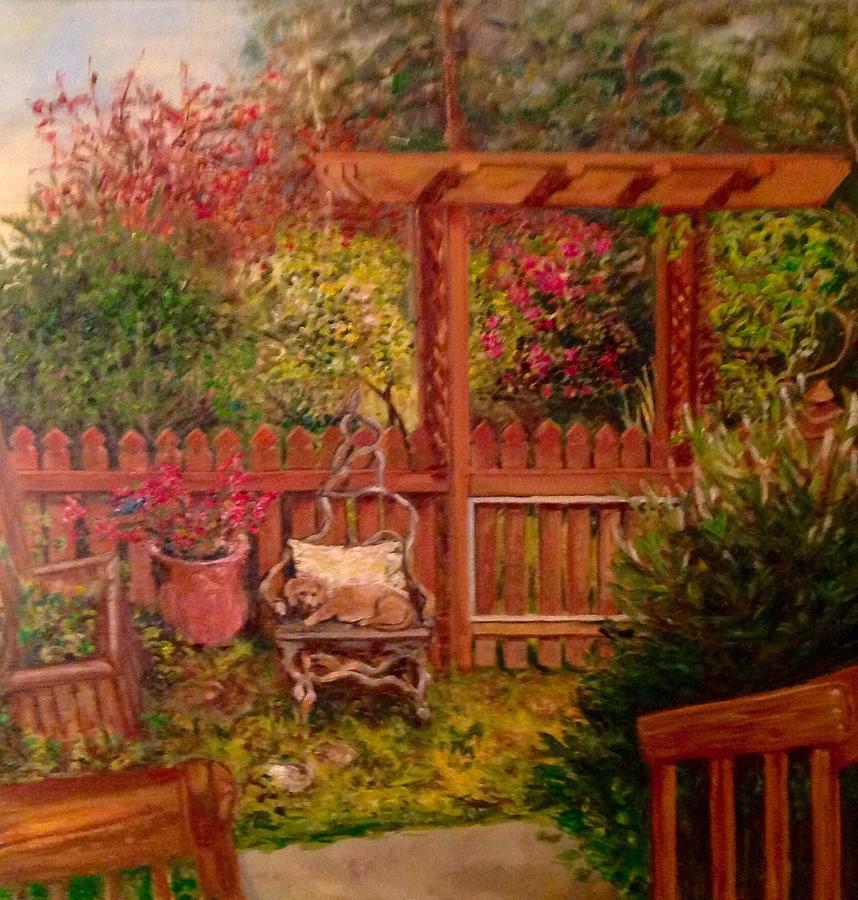 The Artist's Garden by J Reynolds Dail