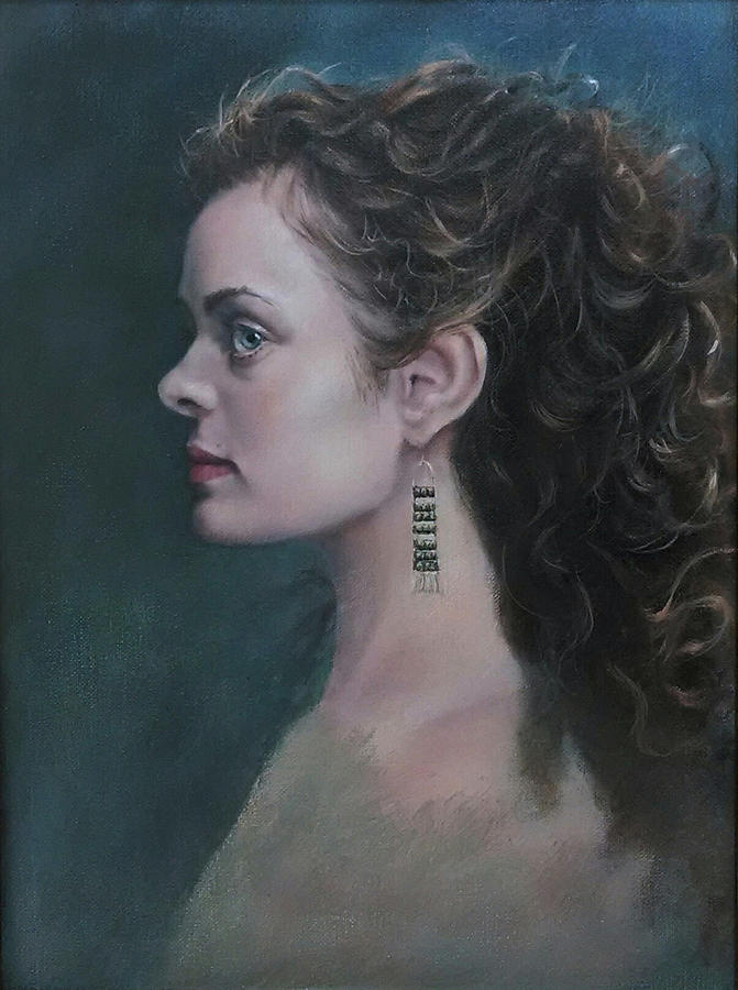 Beautiful Women Painting - The Artists Muse by Swright Fine Art