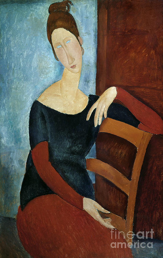 The Painting - The Artists Wife by Amedeo Modigliani