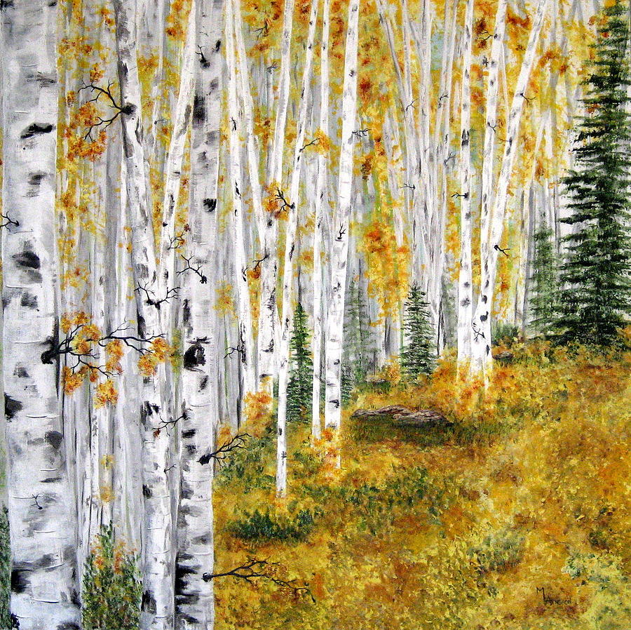 The Aspen Grove Painting by Mary Arneson