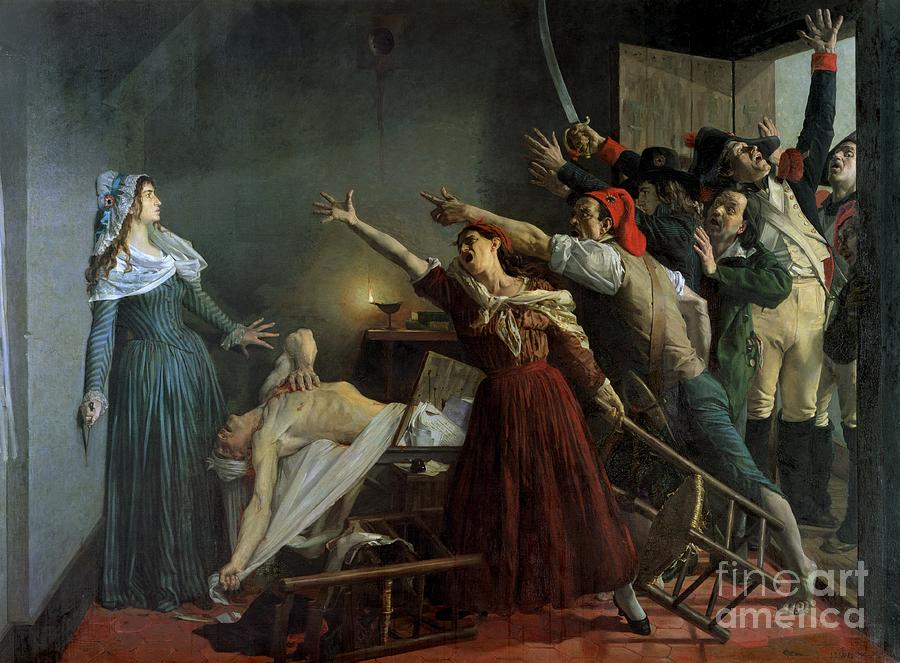 The Painting - The Assassination Of Marat by Jean Joseph Weerts