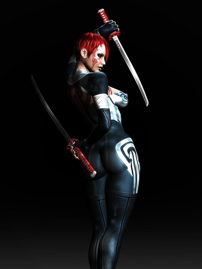 3d Digital Art - The Assassins Code by Alexander Butler