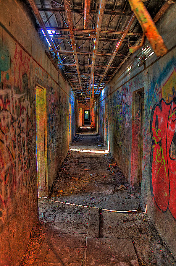 Graffiti Photograph - The Asylum by William Wetmore