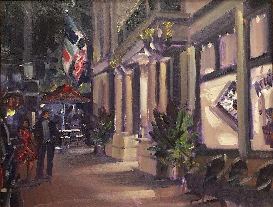 Street Scene Painting - The Audubon by Marty Coulter