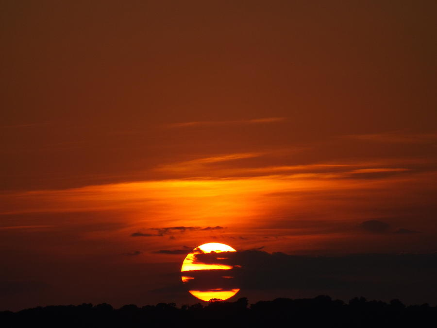 The August Sunset Photograph by Rebecca Cearley