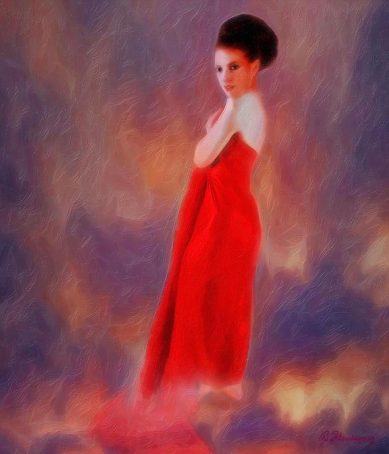 Portrait Photograph - The Aura Of Her World by Richard Hemingway