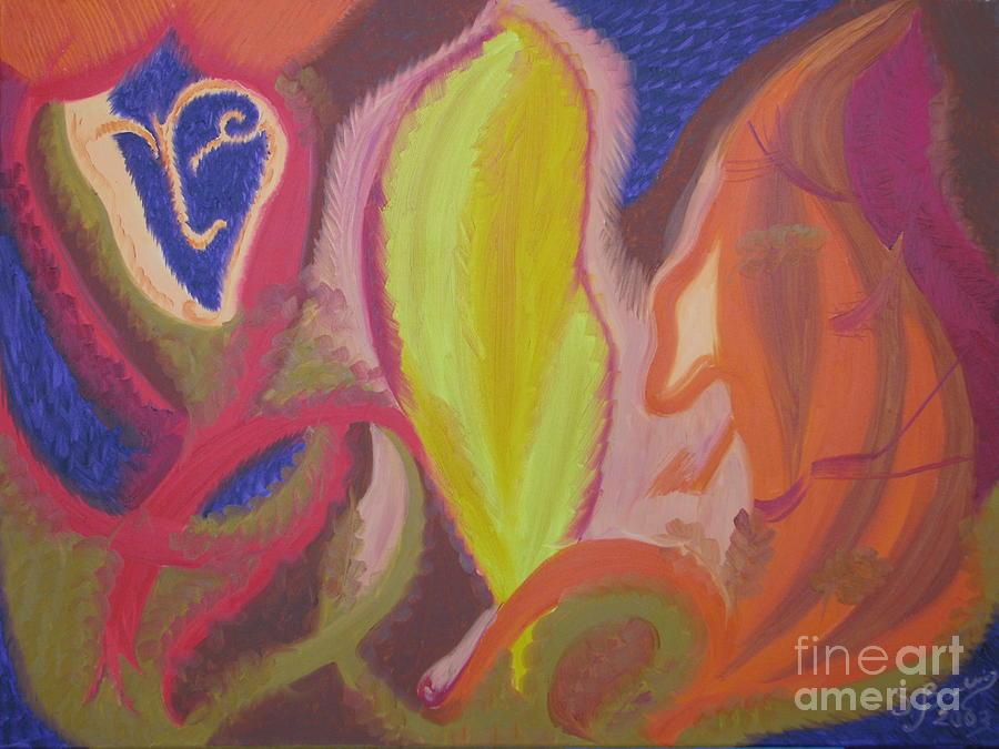Oil Painting Painting - The Autumn Love by Svetlana Vinokurtsev