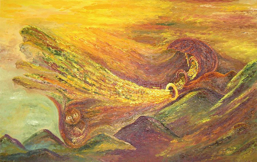 Autumn Painting - The Autumn Music Wind by Karina Ishkhanova