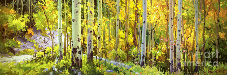 The Autumn Road..... Painting by Gary Kim