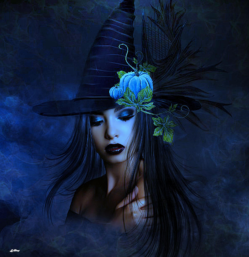 Good Witch Mixed Media - The Autumn Witch 02 by G Berry