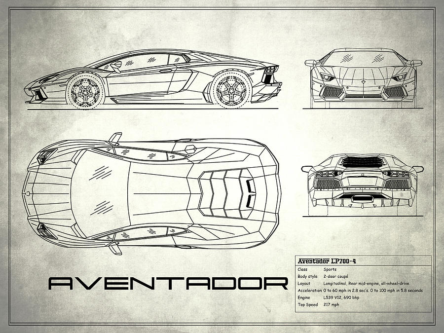 The aventador blueprint white photograph by mark rogan lamborghini aventador photograph the aventador blueprint white by mark rogan malvernweather Gallery