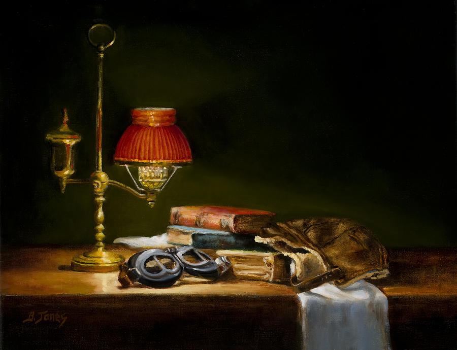 Still Life Painting - The Aviator by Barbara A Jones