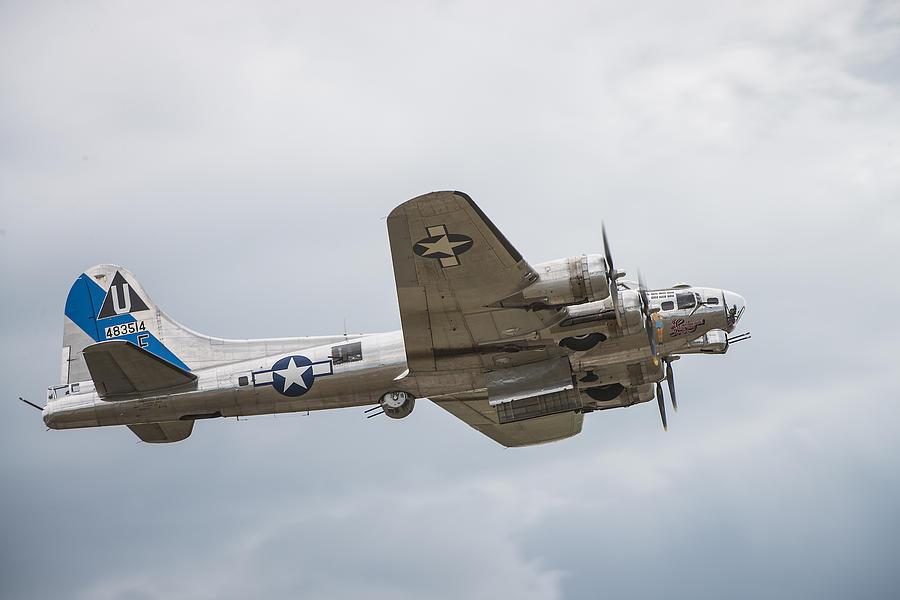 Airport Photograph - The B-17 Bomber by Bill Cubitt