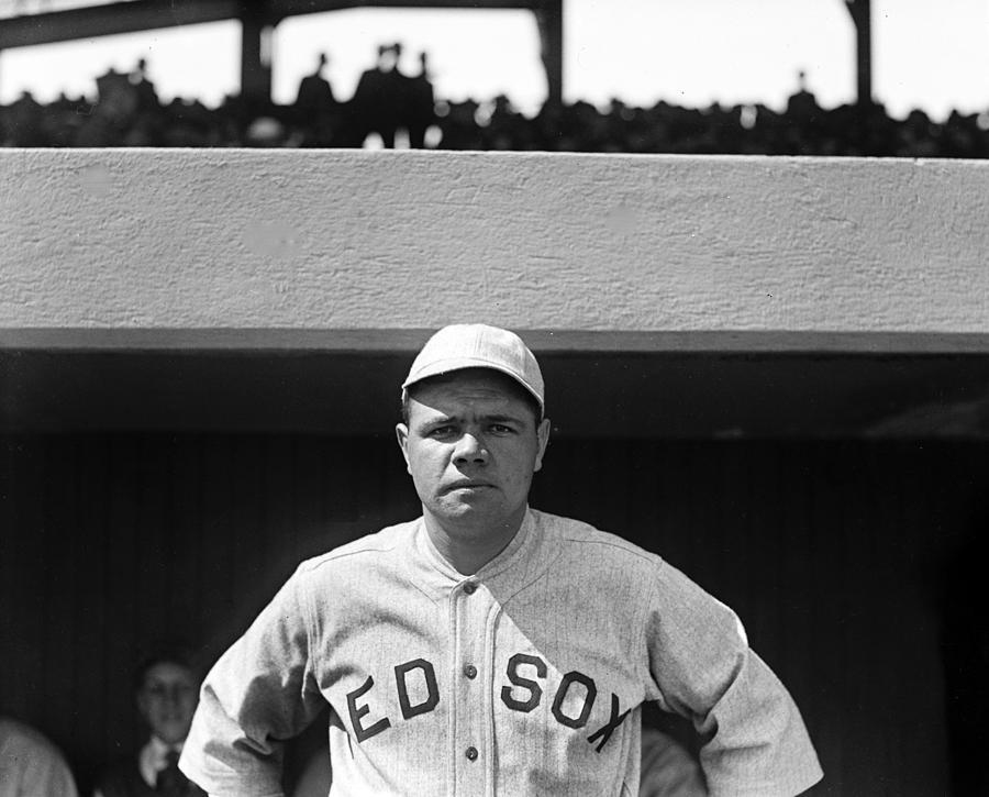 Babe Ruth Photograph - The Babe - Red Sox by International  Images
