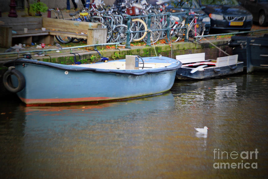 Amsterdam Photograph - The Baby Blue Boat by Jost Houk