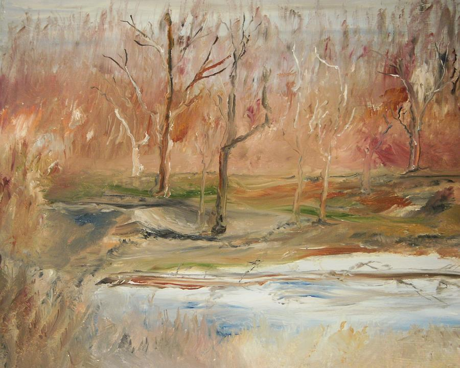 Landscape Painting - The Back Field Creek by Edward Wolverton
