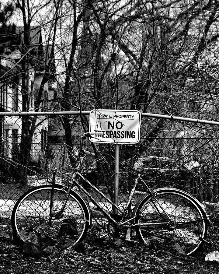 Brian Carson Photograph - The Bad Bicycle No 2 by Brian Carson