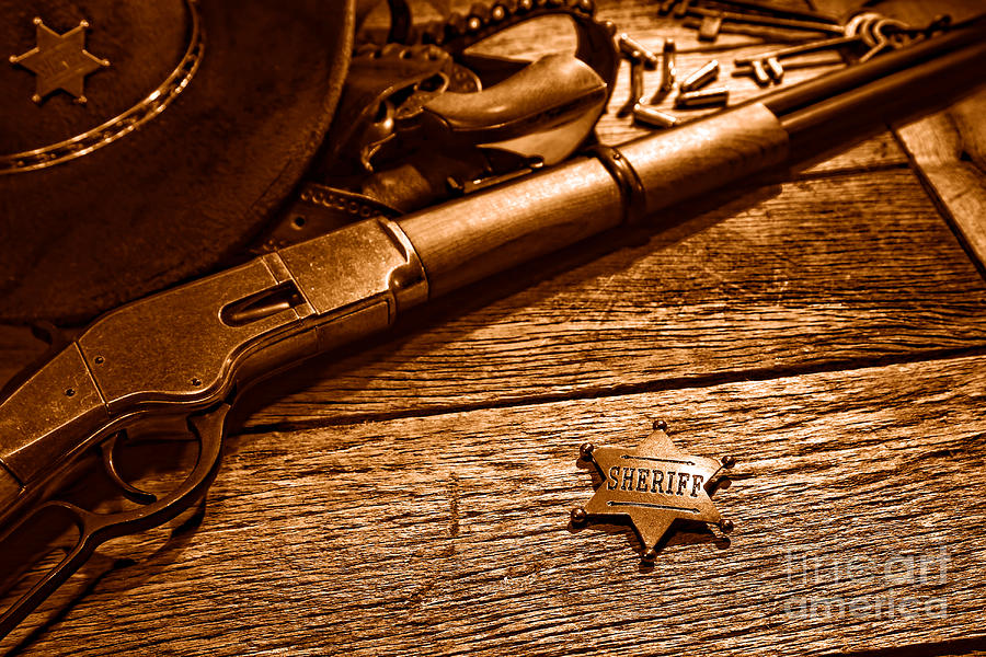 Antique Photograph - The Badge - Sepia by Olivier Le Queinec