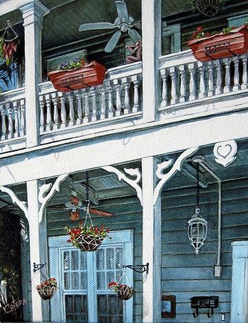 Landscape Painting - The Balcony by Carlos Alvarez
