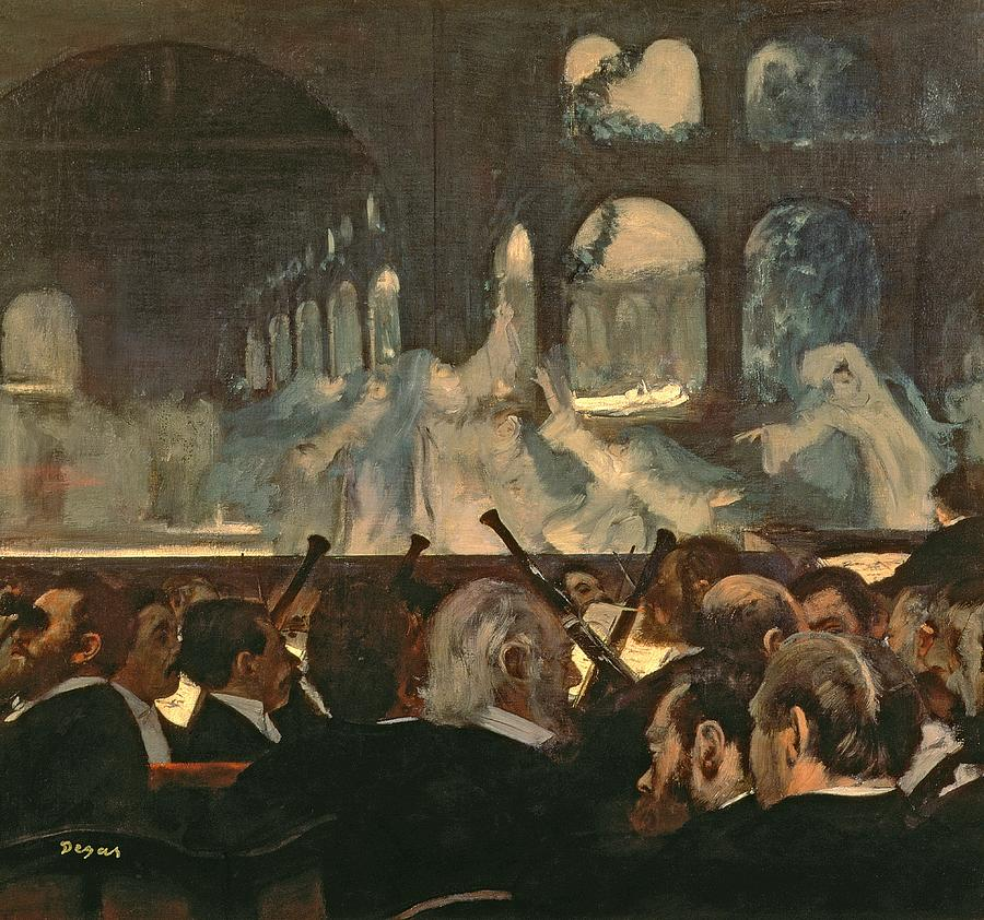The Painting - The Ballet Scene From Meyerbeers Opera Robert Le Diable by Edgar Degas