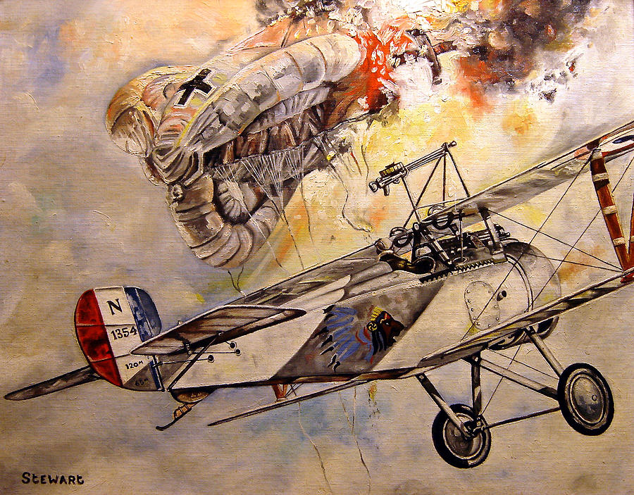 Military Painting - The Balloon Buster by Marc Stewart