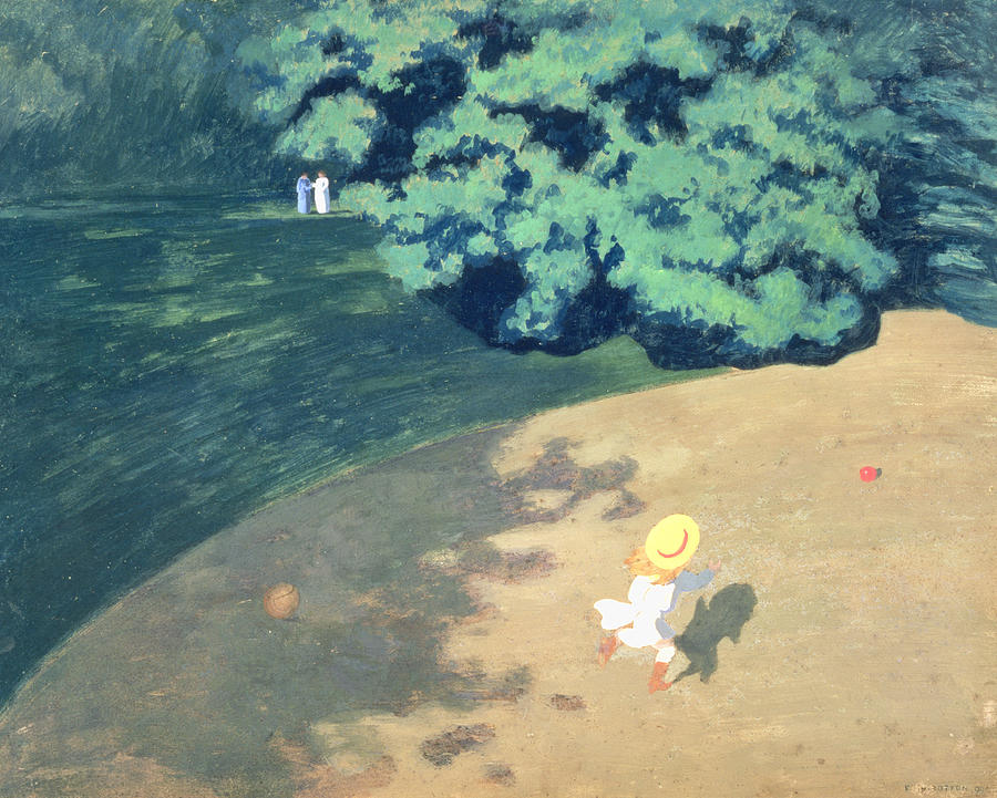 The Painting - The Balloon Or Corner Of A Park With A Child Playing With A Balloon by Felix Edouard Vallotton