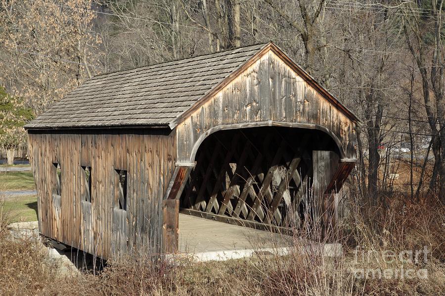 Environment Photograph - The Baltimore Covered Bridge - Springfield Vermont Usa by Erin Paul Donovan