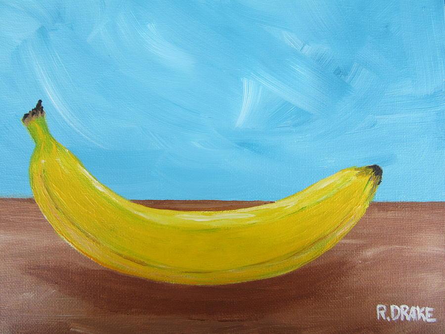Banana Painting - The Banana by Richard Drake