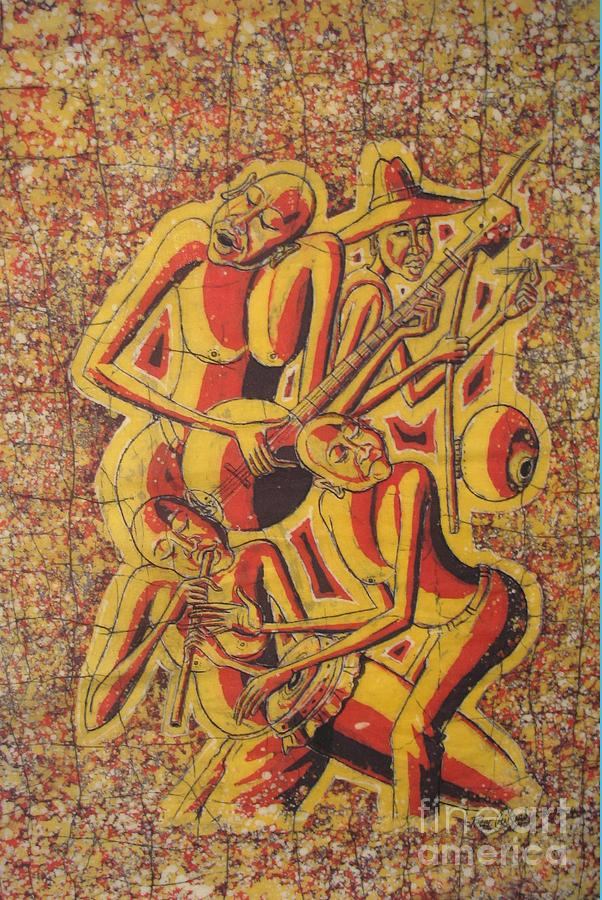 African Painting - The Band  by Peter Chikwondi