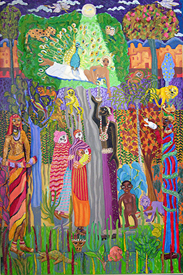 Haitian Painting - The Baptism by Maria Alquilar