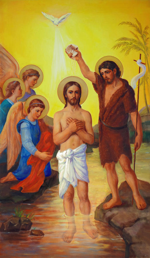 Baptism Painting - The Baptism Of Jesus Christ by Svitozar Nenyuk
