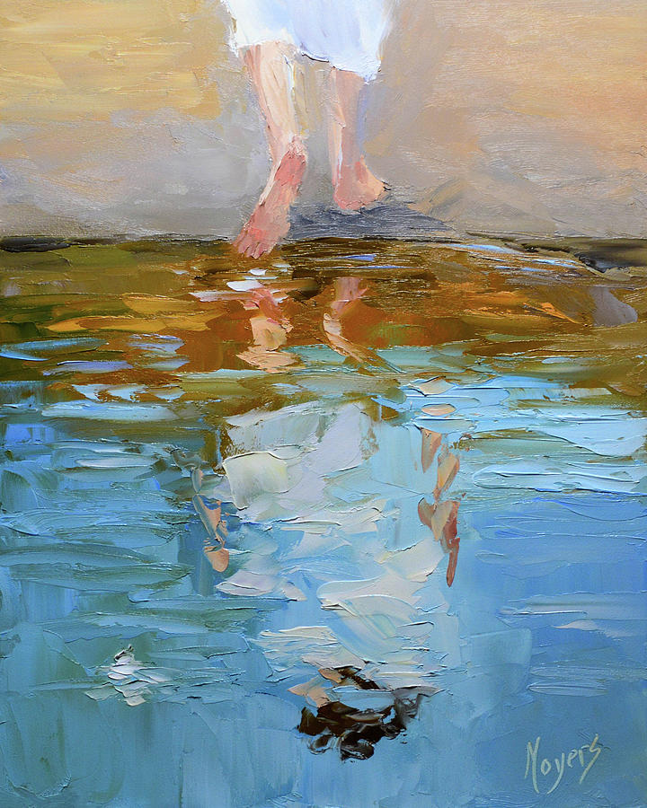 Baptism Painting - The Baptism of Jesus by Mike Moyers