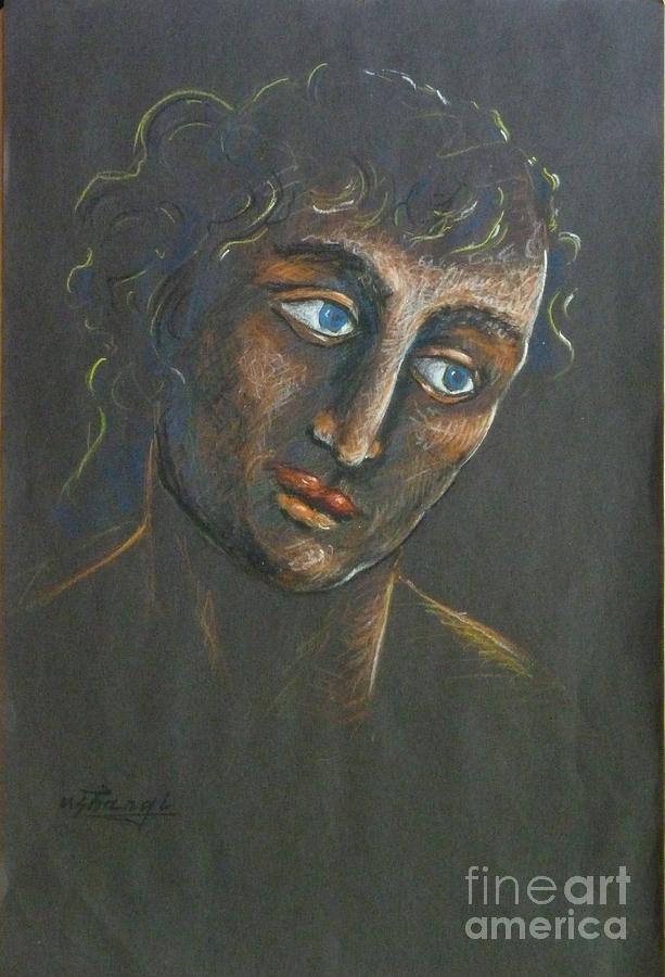 Male Drawing - John by Ushangi Kumelashvili