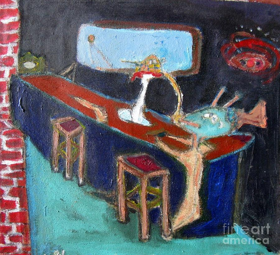 The Bar at the End of the Universe Painting by Caliban Strange