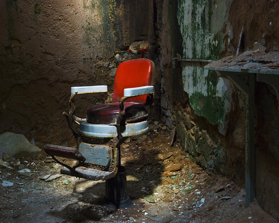 Chair Photograph - The Barber Chair by Eric Harbaugh