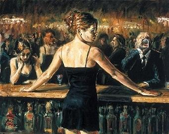 Bar Painting - The Bartender by Fabian Perez