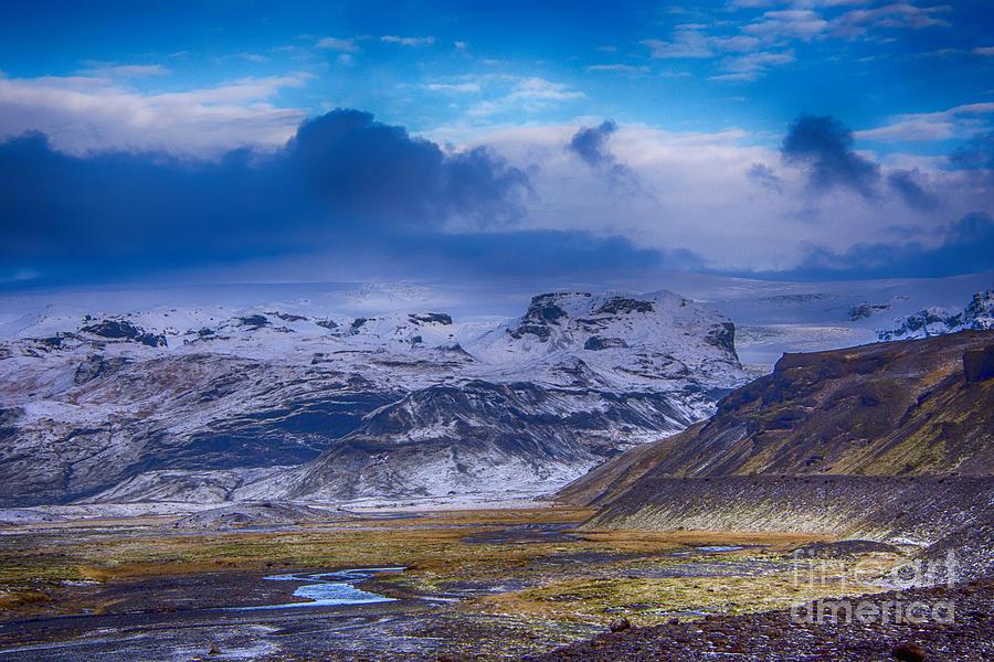 The Base Of Myrdalsjokull Glacier Photograph