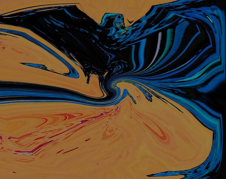 Abstract Digital Art - The Bat by Lenore Senior